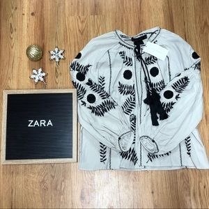 NWT Zara Lightweight Embroidered Jacket